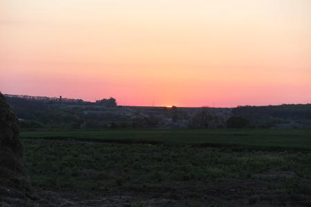 evening glow: Summer evening glow in the Ukrainian field