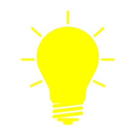 creativeness: bulb on white