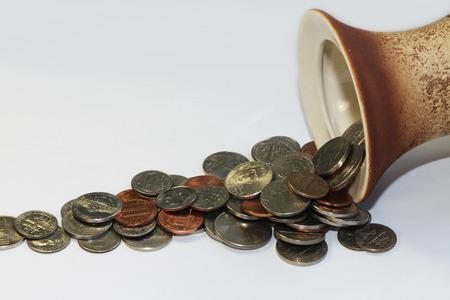 prosper: Close up of US coins