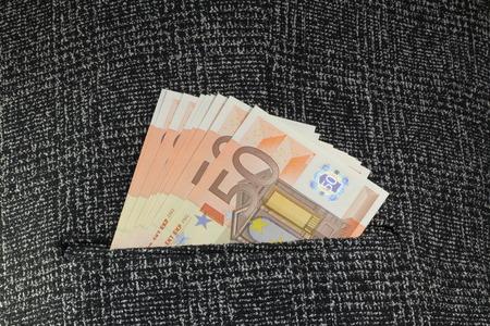 banconote euro: Primo piano di banconote in euro Archivio Fotografico