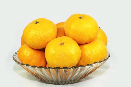 tangerines in a vase Imagens