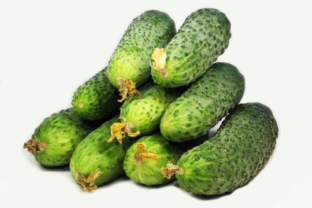 cucumbers: cucumbers on white background