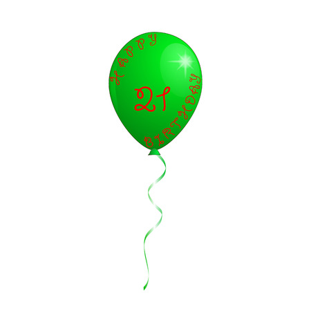 Balloon in green color