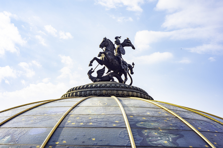 City of Moscow, George The Victorious Monument, sculpture. Russia. Reklamní fotografie