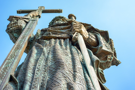 Monument to the Holy Prince Vladimir Svyatoslavich, Baptist of Russia Monument, sculpture, Reklamní fotografie