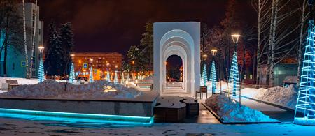 winter landscape of the Russian province.Sergiev Posad,