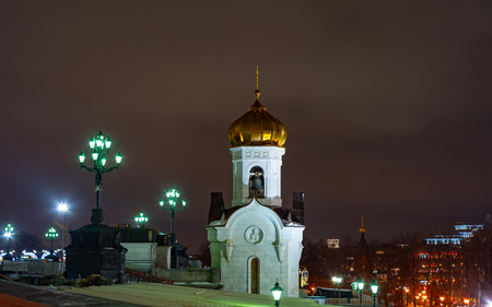 City the Moscow.The Transfiguration Church of the Cathedral of Christ the Saviour on Volkhonka.Russia. 2019 Archivio Fotografico - 122190391