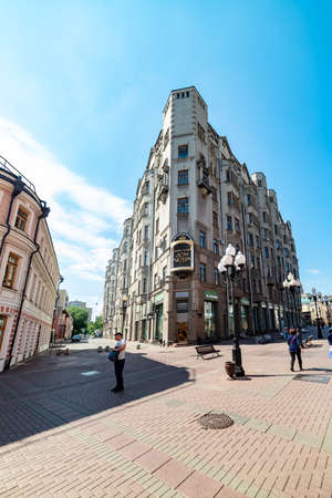 City the Moscow .view of the Central House of Actor named after A. A. Yablochkina, in Moscow.Russia.2019 新聞圖片