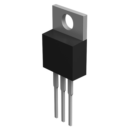 triode: Electronic component in TO-220 package Stock Photo