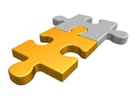 puzzle pieces: Zwei Puzzleteile Lizenzfreie Bilder