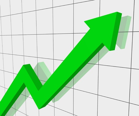 increment: Graph of progress Stock Photo
