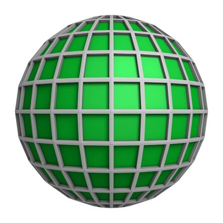 longitude: Green globe symbol