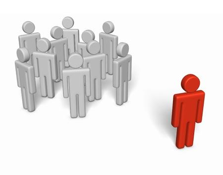 social outcast: Different position