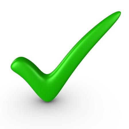 green tick: Green checkmark