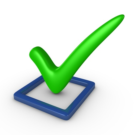 Checkbox with a checkmark Stock Photo - 13097407