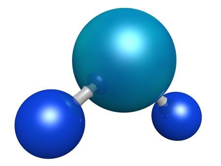 molecula de agua: Modelo 3d de una molécula de agua
