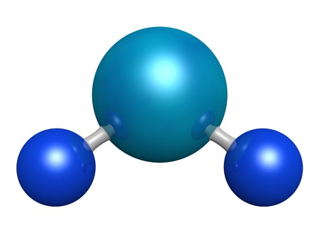 hydrogen: 3d model of water molecule Stock Photo