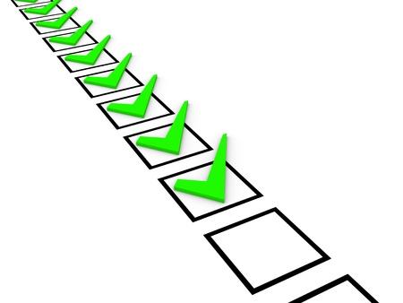 ballot paper: Check list concept