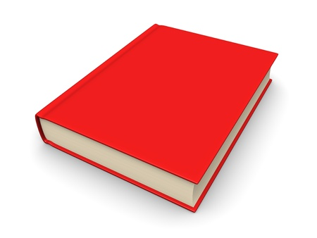 reference book: Book with a red cover