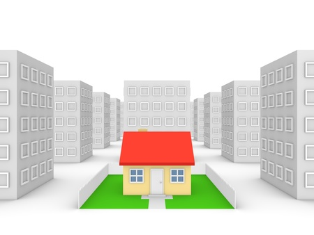 housing lot: Private house in the city Stock Photo