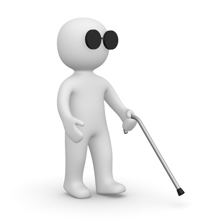 Blind man Stock Photo - 13097326