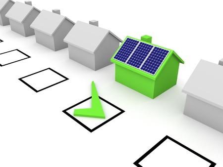 produce energy: Choice of solar energy