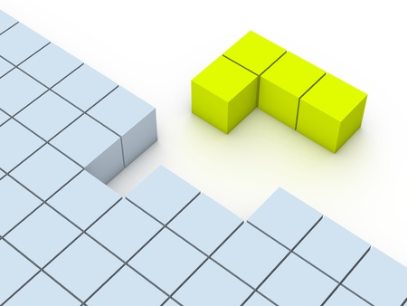 Concept of tetris game