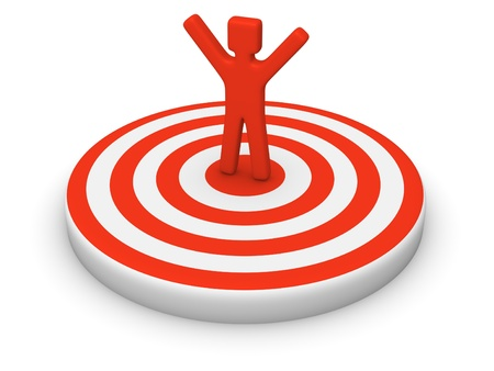 excel: Man on target Stock Photo