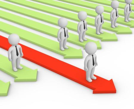 Competitive advantage Stock Photo
