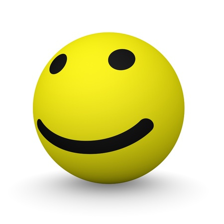 Classic yellow smiley ball Stock Photo - 13097402