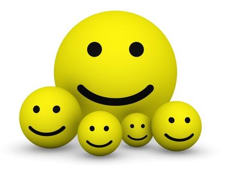 smily: Yellow smiley balls Stock Photo