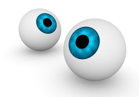 visual perception: Two eyeballs