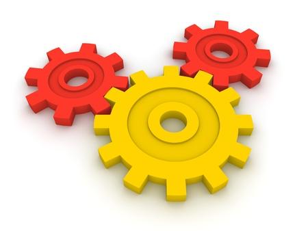 three wheel: Three gears