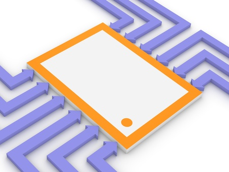 microelectronics: Concept of electronic microchip Stock Photo