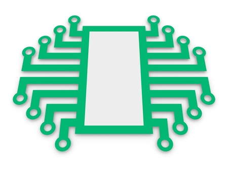 Symbol of electronic microchip photo