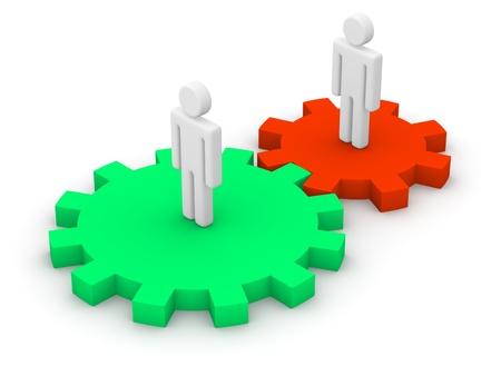 gearwheel: Interaction Stock Photo