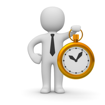 生産性: 時計の 3 d 男