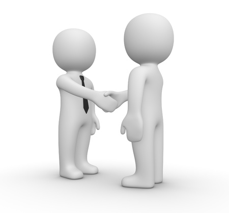 negotiation business: Handshake between two businessman Stock Photo
