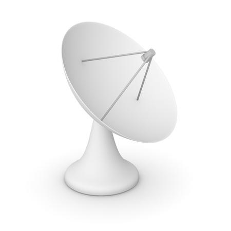 antena parabolica: Modelo simple 3d de la antena parabólica Foto de archivo