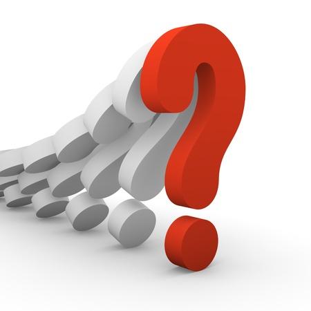 point d interrogation: Rang�e de points d'interrogation baisse Banque d'images