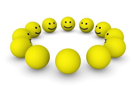 Group of smiley balls Foto de archivo