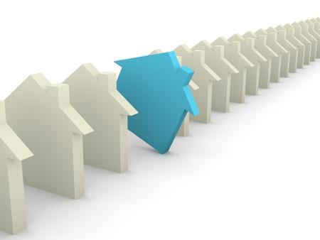 Choosing house concept