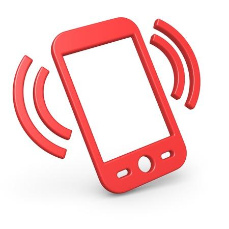 Simple 3d smart phone symbol