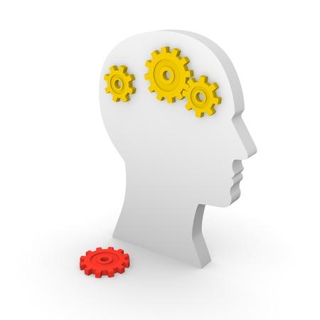 mentally: Concept of mental illness. 3d render.