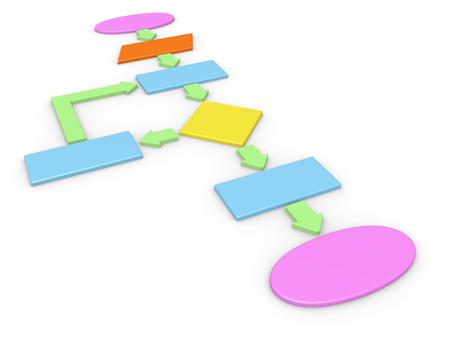 algorithmic: 3d concept of computer algorithm