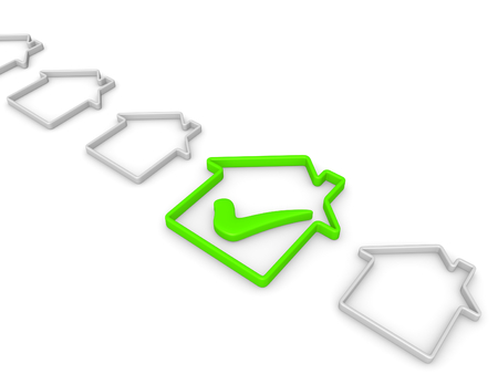 Check list with house symbols Reklamní fotografie