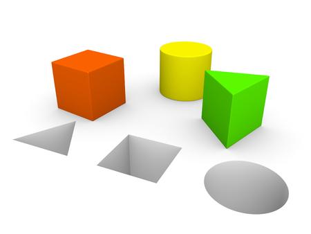 Concept de jeu avec des chiffres différents. 3d rendre. Banque d'images - 75498853