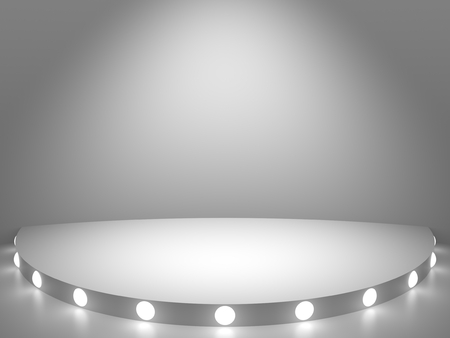 Abstract 3d background with highlighted stage. 3d render.