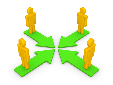 Concept of partnership. 3d render. Standard-Bild
