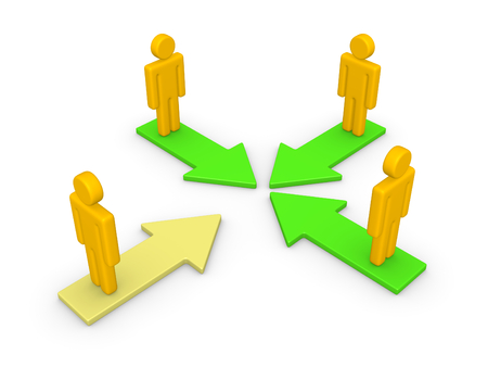 Concept of partnership. 3d render. Stock Photo